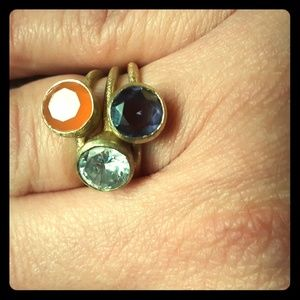 Anthropologie Stackable Bezel Set Ring